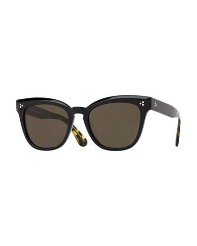 Marianela Rounded Plastic Sunglasses