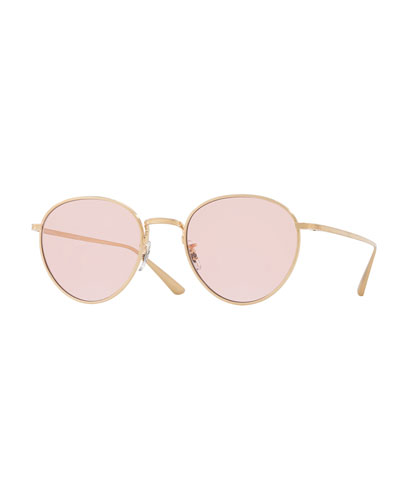 bcb9ca4ccd Quick Look. Oliver Peoples · Brownstone Photochromic Round Titanium  Sunglasses