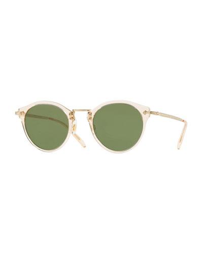 8ce670686d6 Quick Look. Oliver Peoples · Semitransparent Acetate   Metal Round  Sunglasses
