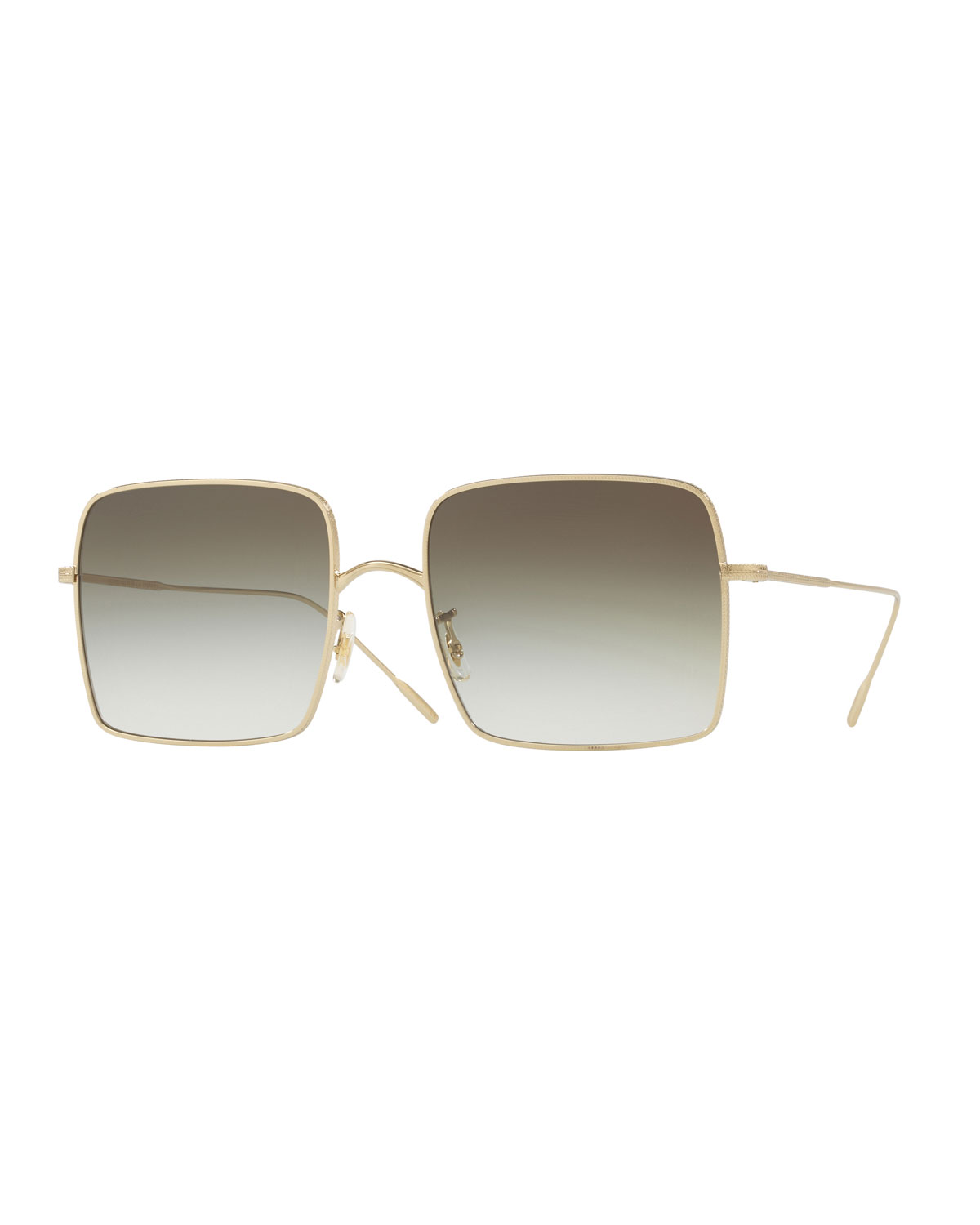 Rassine 56Mm Sunglasses - Soft Gold Olive