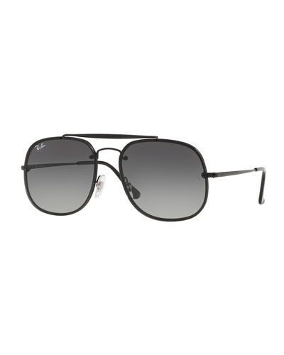General Blaze Lens-Over-Frame Square Sunglasses