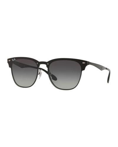 Blaze Clubmaster Lens-Over-Frame Sunglasses