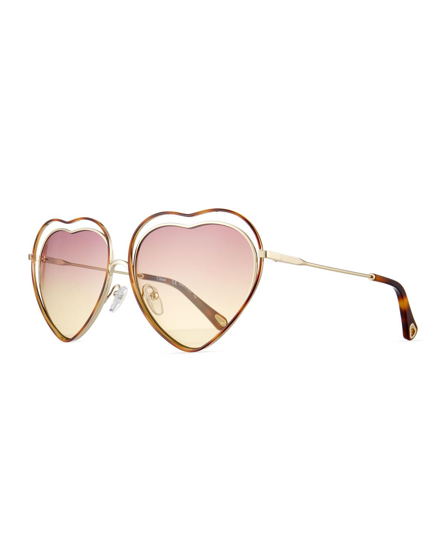 Poppy Love Heart-Shaped Sunglasses