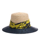 Stevie Two-Tone Straw Sun Hat