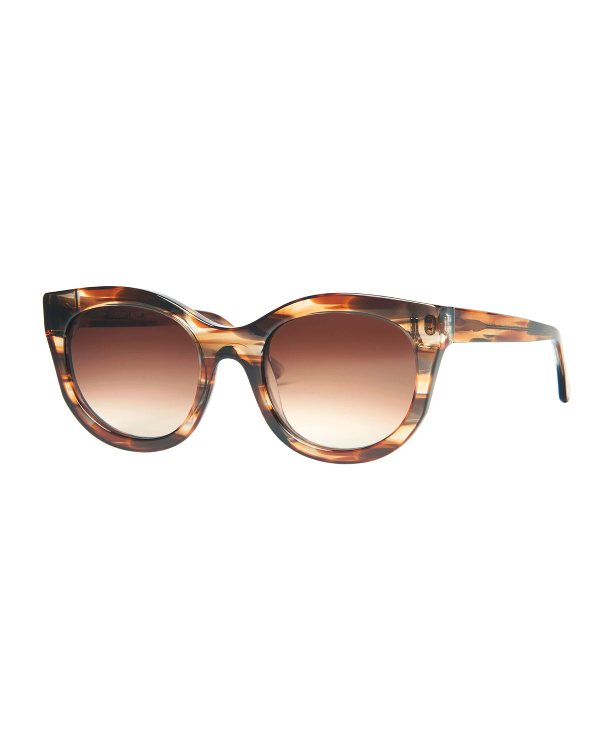 THIERRY LASRY Sleepy Acetate Polarized Sunglasses in Brown Pattern