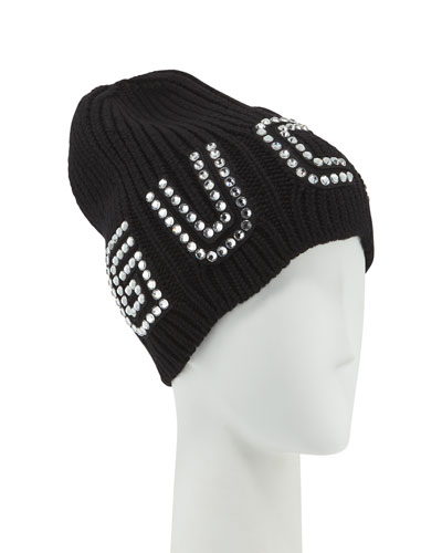 8ac6b40411a4e Quick Look. Gucci · Game Guccy Rib-Knit Wool Beanie Hat. Available in Black