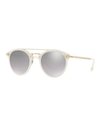 Remick Mirrored Acetate & Metal Sunglasses