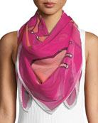 Anna Coroneo Cool Camels Silk Scarf