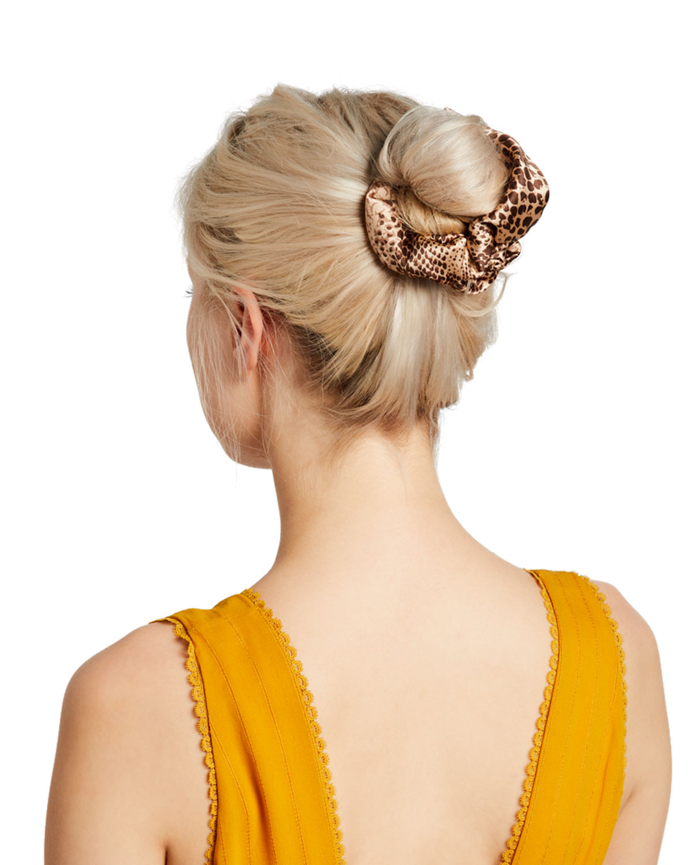Leopard-Print Hair Scrunchie