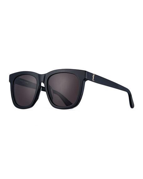 Saint Laurent SL M24K Oversize Square Acetate Sunglasses