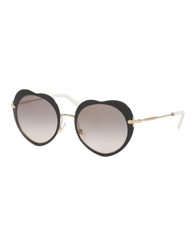 Mirrored Heart Sunglasses