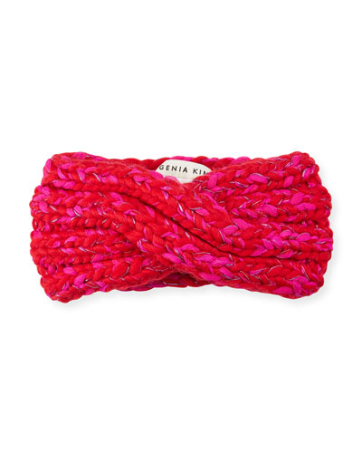 Lula Metallic Knit Ear Warmer Headband