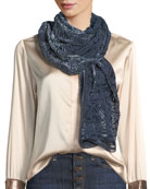 Liberty London Ianthe Velvet Burnout Scarf