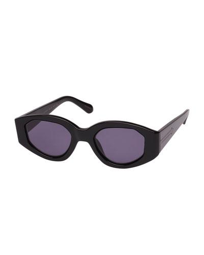 Castaway Oval Plastic & Metal Sunglasses