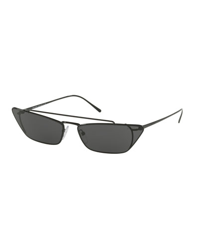 c9fcc9bc29c Quick Look. Prada · Slim Cat-Eye Metal Sunglasses