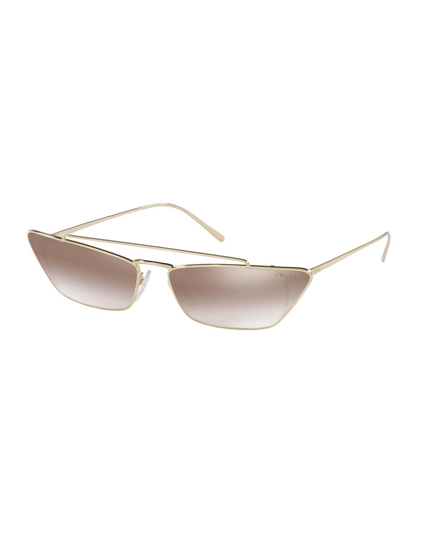 01b1cea7764 Slim Cat-Eye Mirrored Sunglasses