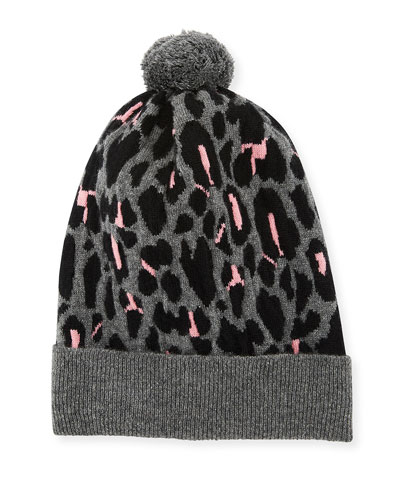b948847a3ef Quick Look. Rosie Sugden · Rib-Knit Leopard Intarsia Cashmere Beanie Hat.  Available in Leopard