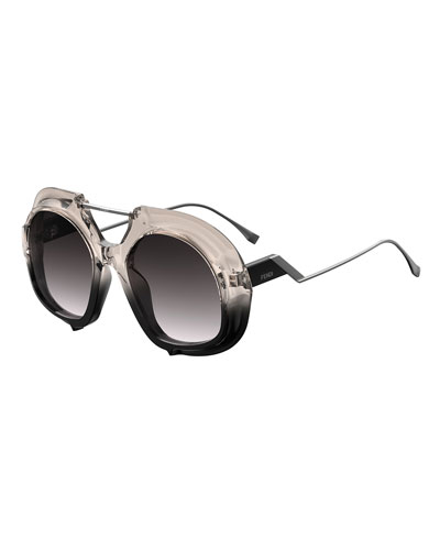Ombre Sunglasses with Brow Bar