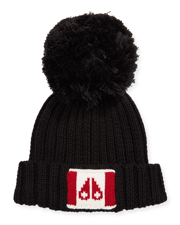 Canada Flag Beanie Hat w/ Pompom