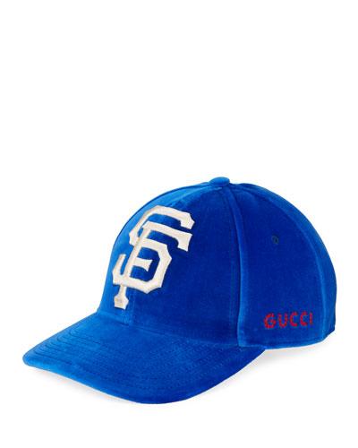 3a2ac69e5a3 Quick Look. Gucci · San Francisco Giants MLB Patch Velvet Baseball Hat