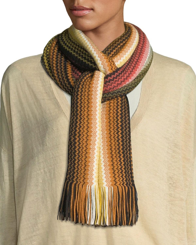 Zigzag Wool-Blend Scarf