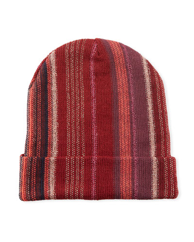 25debe02843 Quick Look. Missoni Accessories · Wool-Blend Metallic Striped Knit Hat