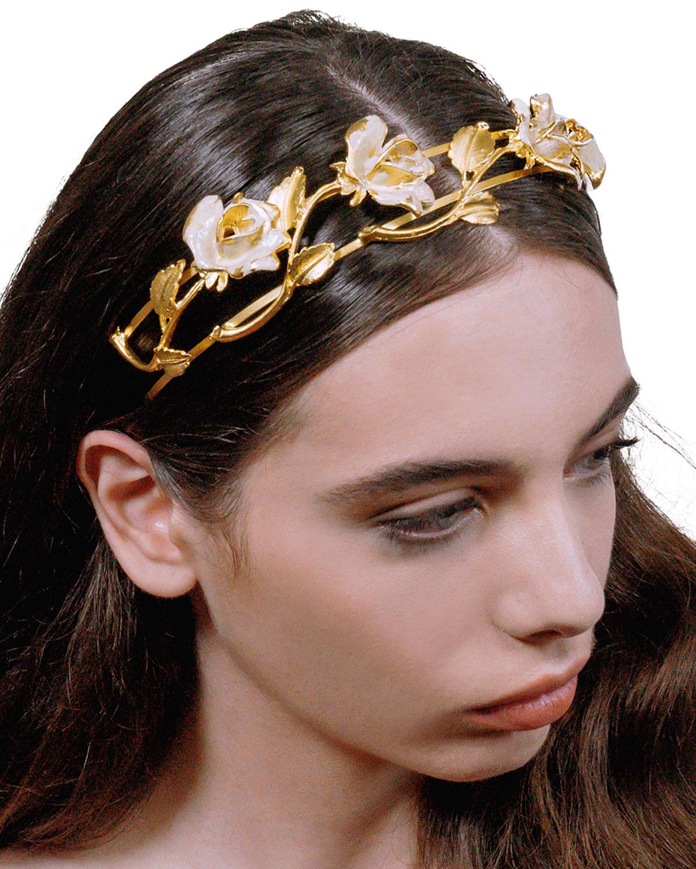EPONA VALLEY La Vie En Rose Headband in Nude