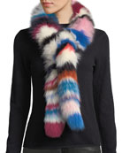 Charlotte Simone Chunky Monkey Multicolored Fur Scarf