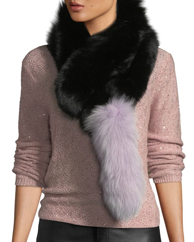 Popsicle Fur Pull-Through Scarf