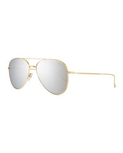 Wooster Mirrored Aviator Sunglasses