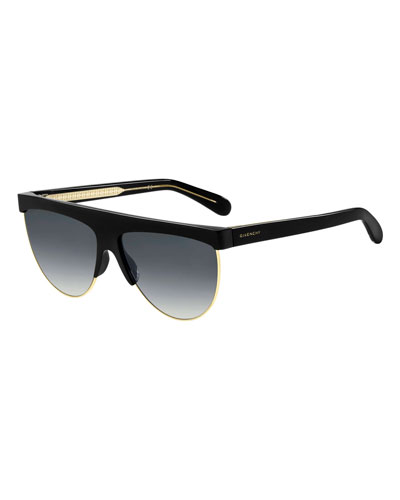 Flattop Gradient Shield Sunglasses
