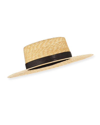 fd750cafe32fab Quick Look. Janessa Leone · Klint Straw Fedora Hat. Available in Natural