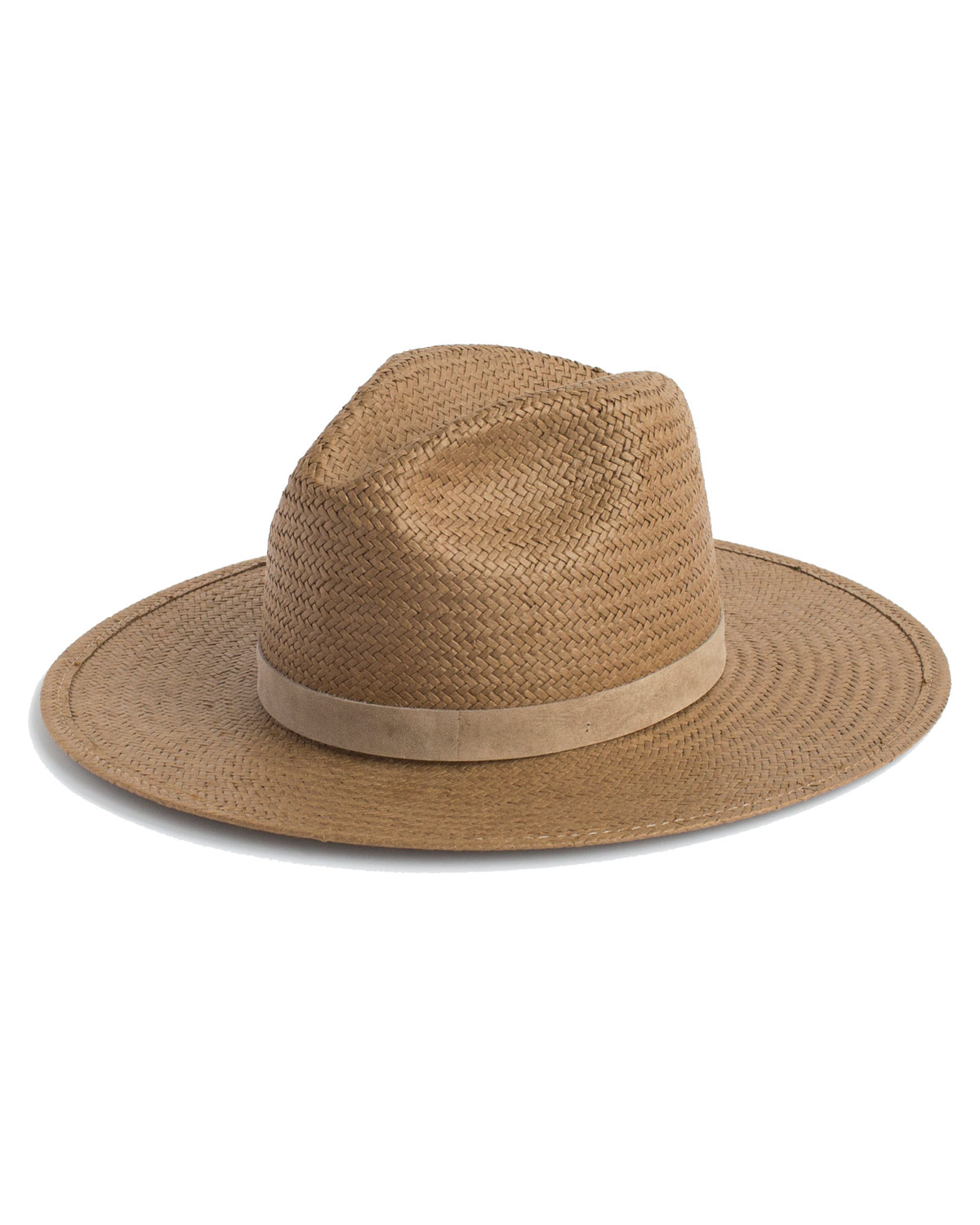 JANESSA LEONE Adriana Packable Straw Panama Hat in Brown