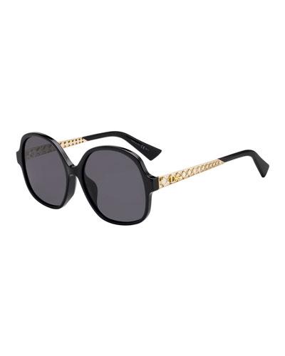 Diorama Cannage-Temple Sunglasses Sunglasses