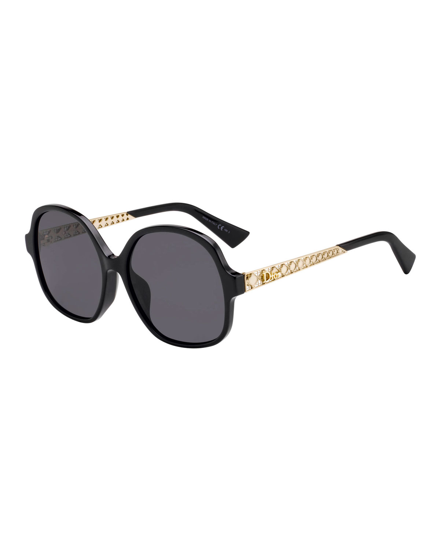 Ama Cannage-Temple Sunglasses Sunglasses, Black