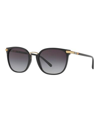 Check-Temples Square Sunglasses