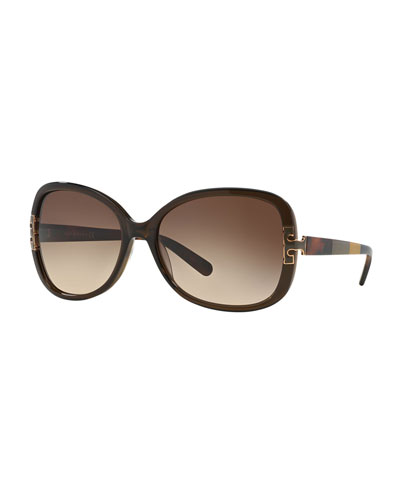 Colorblock Square Acetate Sunglasses