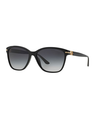 ba715eb343 Quick Look. Versace · Gradient Square Sunglasses w  Crystal Trim. Available  in Black ...