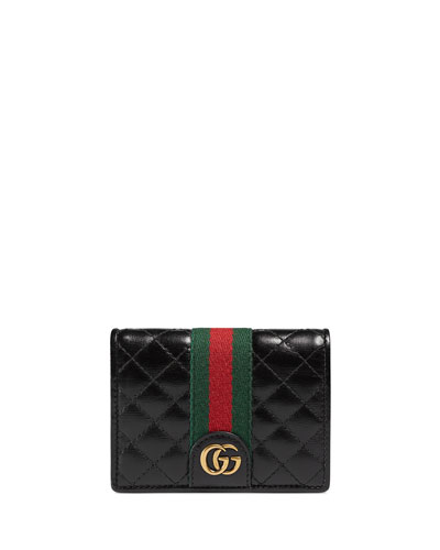 451c5688108 Quick Look. Gucci · Trapuntata Leather Flap Card Case. Available in Black