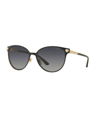 Polarized Medusa Head Round Sunglasses