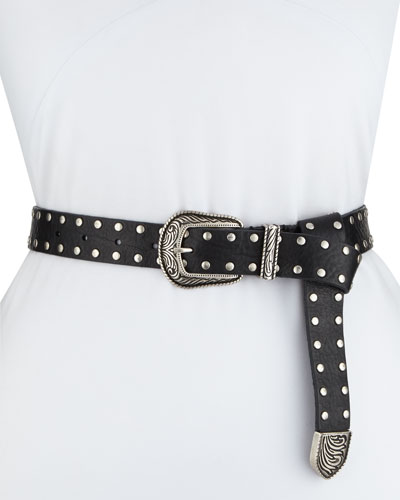 Tovy Studded Leather Belt