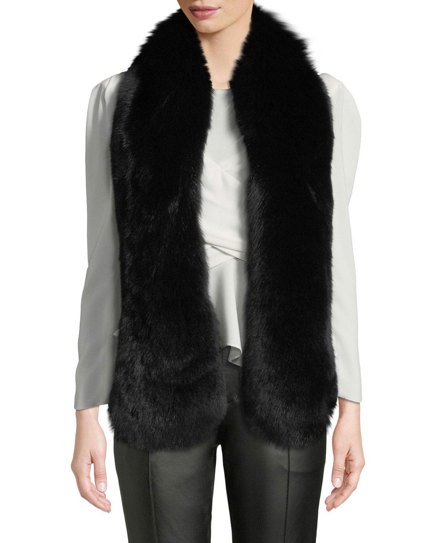 GORSKI Fox Fur Boa in Black