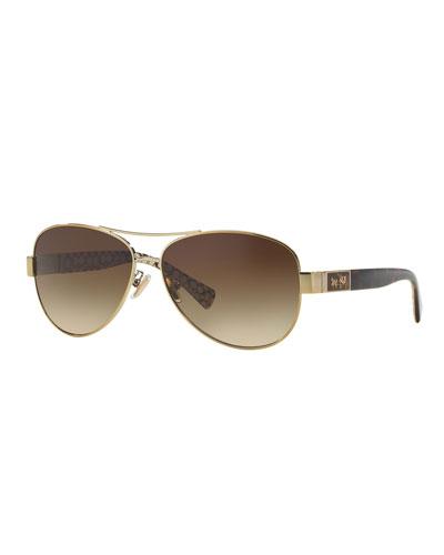 b60dfeb1111 Quick Look. Coach · Gradient Aviator Sunglasses w  Metal ...