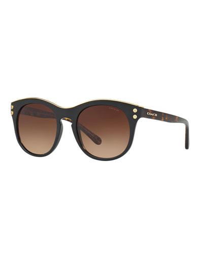 c4c6fed7575 Quick Look. Coach · Round Gradient Sunglasses w  ...