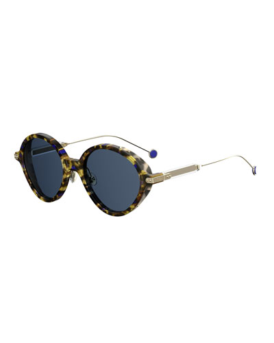 Umbrags Round Printed Sunglasses