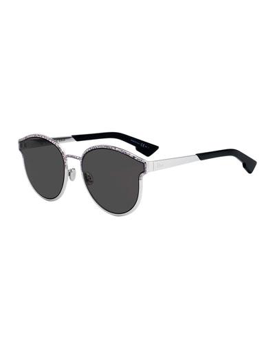 DiorSymmetrics Round Metal Sunglasses