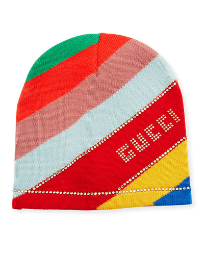 0d09ab08ac1bf Quick Look. Gucci · Multi-Stripe Wool Beanie Hat ...