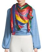 Gucci Multi-Gucci Rainbow Striped Shawl