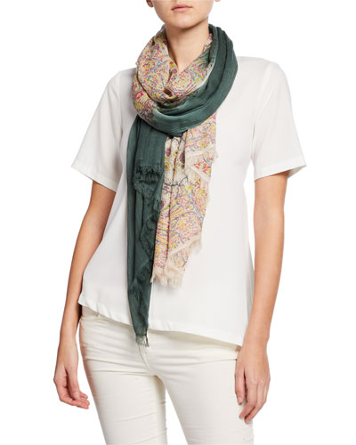 Riva Ombre Patterned Scarf
