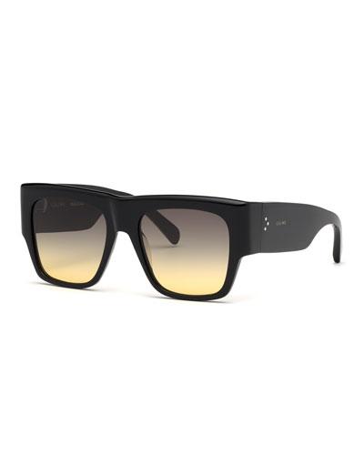 7380f0928f6c Quick Look. Celine · Square Chunky Gradient Sunglasses